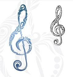 Musical Note Ornament vector