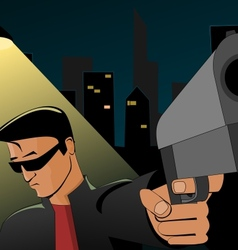 Night robbery vector