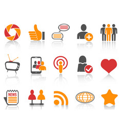 orange and red color series social networking vector image