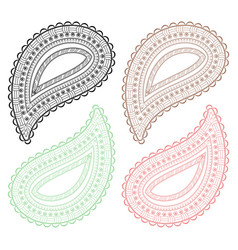 paisley decorative element vector image