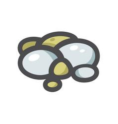 Pebble stone river rocks icon cartoon vector