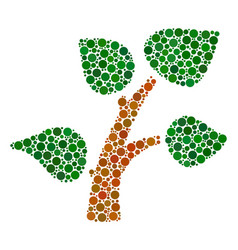 plant tree mosaic of filled circles vector image