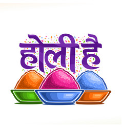 Poster for indian holi festival vector