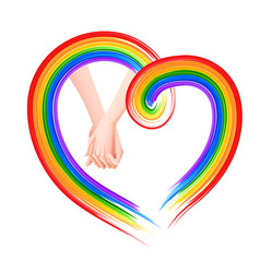 Rainbow colored background showing lgbt support vector