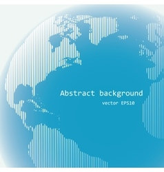 Raster lines world globe vector