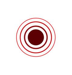 red concentric rings epicenter theme simple flat vector image