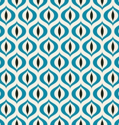 Retro Geometric seamless pattern Cats eye vector image