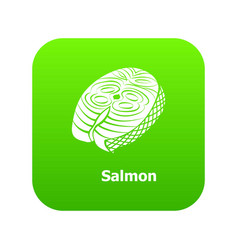 salmon icon green vector image