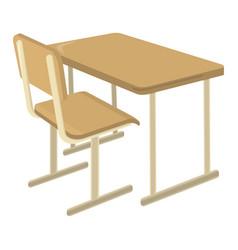 school desk school supplies icon and logo vector image