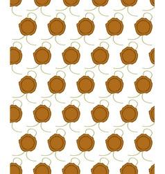 Sealing wax press pattern vector image