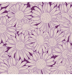 seamless daisy pattern vector image