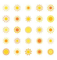 set sun icons vector image