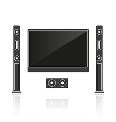 Silhouette home cinema vector