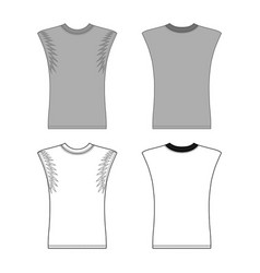 sleeveless t-shirt vector image