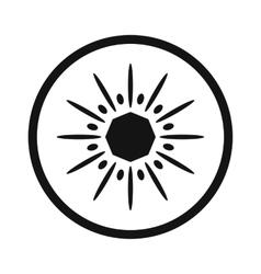 Sliced kiwi simple icon vector