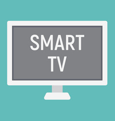 smart tv flat icon household and appliance vector image