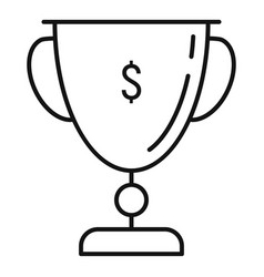 Startup cup icon outline style vector