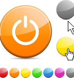 Switch glossy button vector image