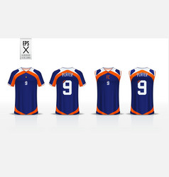 T-shirt sport mockup template design vector