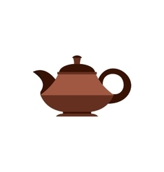 Tea pot icon flat style vector image