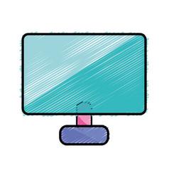 technology computer digital information work vector image
