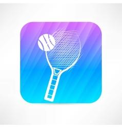 tennis racket icon vector image