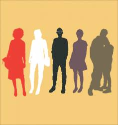 Urban people vector