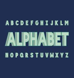 volume bold font alphabet vector image