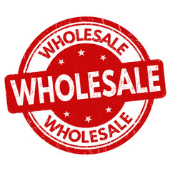 wholesale sign or stamp vector image