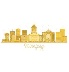 Winnipeg canada city skyline golden silhouette vector