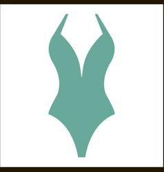 Woman fashion summer swimsuit vector