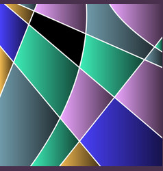 Abstract colored stained glass mosaic vector