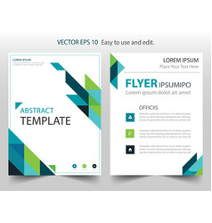 blue green abstract triangle annual report vector image vector image