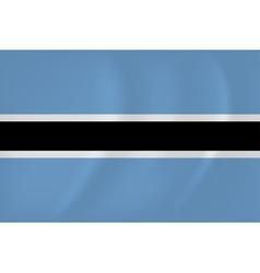 Botswana waving flag vector image vector image