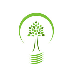 eco-friendly light saving energy vector image