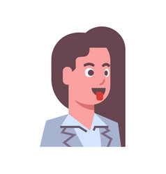 female show tongue emotion icon isolated avatar vector image vector image