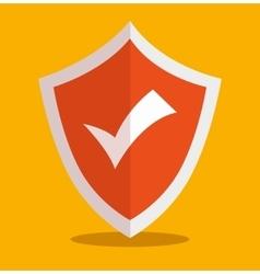 icon secure insurance design vector image