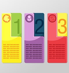 Modern Square Banner Info Graphic vector image