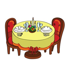 romantic dinner table vector image