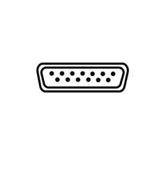 vga icon vector image