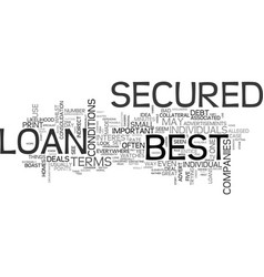 what to look for to find the best secured loan vector image vector image