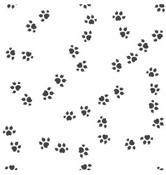 animal trail seamless pattern vector image vector image