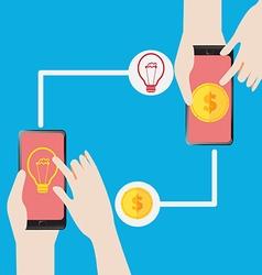 Exchange Get Money for the Idea vector image vector image