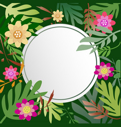 floral and leaves with copy space background vector image vector image