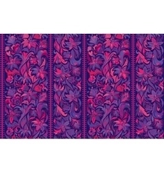Seamless pattern with vertical stripes and floral vector image