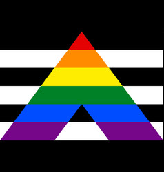 straight ally flag vector image