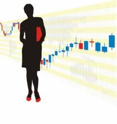 world stock exchange vector image