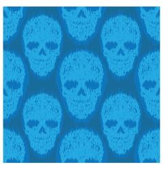 Blue File Skull Pattern vector image vector image