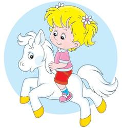 Little rider vector image