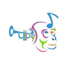 Musical-Monkey-380x400 vector image